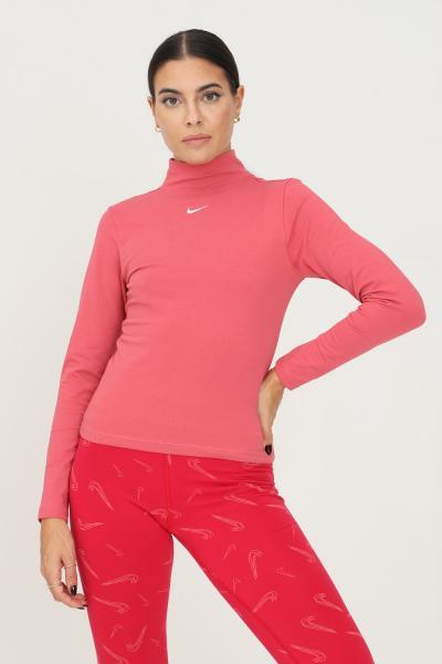 NIKE T-shirt donna rosa nike a manica lunga con ricamo logo frontale  T-shirt | DD5882622