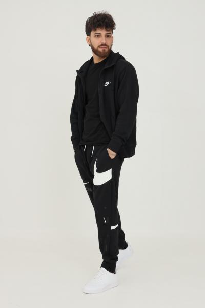 NIKE Pantaloni uomo nero nike sport con logo a contrasto  Pantaloni | DD6001010