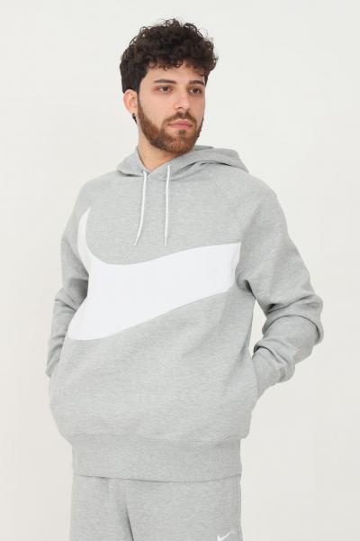 NIKE Felpa nike sportswear swoosh tech fleece uomo grigio con cappuccio  Felpe | DD8222063