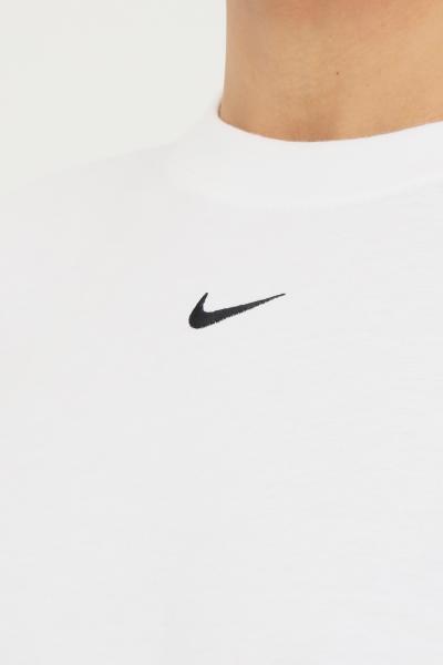 NIKE T-shirt donna bianco nike a manica corta con mini ricamo logo a contrasto frontale  T-shirt | DH4255100