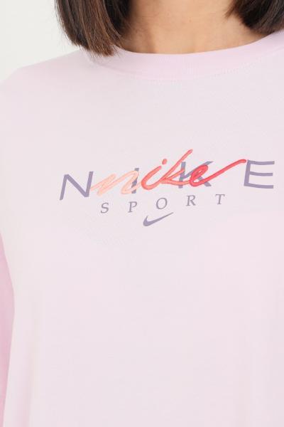 NIKE T-shirt donna rosa nike a manica corta con ricamo logo frontale  T-shirt | DJ1834695