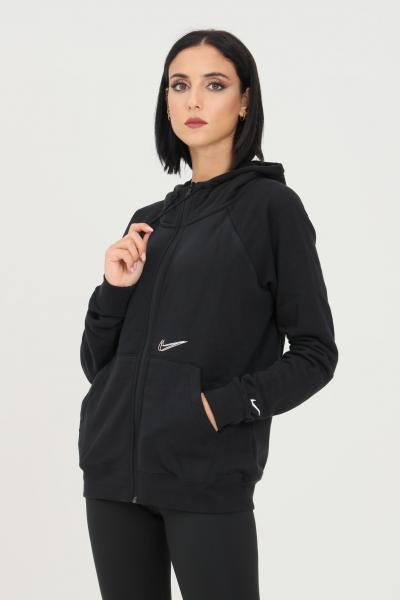 Felpa donna nero con zip e cappuccio  Felpe | DJ4120010