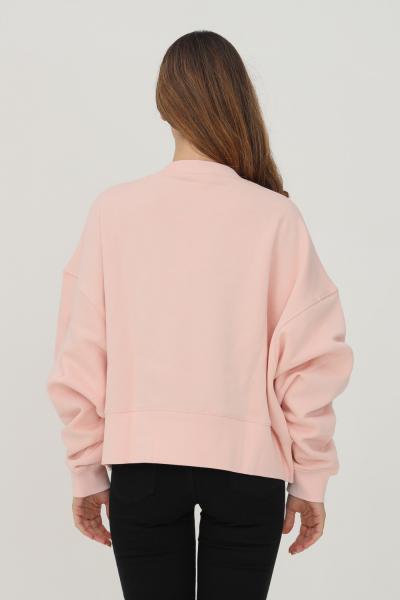 NIKE Felpa donna rosa nike girocollo con ricamo logo frontale  Felpe | DJ7665864