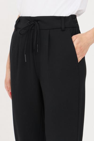 ONLY Pantaloni donna nero only casual dal taglio classico con elastico in vita  Pantaloni   15115847-L32BLACK
