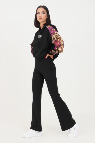 Pantaloni donna nero modello casual con fondo a zampa  Pantaloni   15213525-L32BLACK