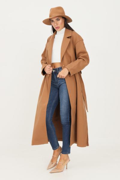 Cappotto donna cammello con cintura in vita  Cappotti   15234780TOASTEDCOCONUT