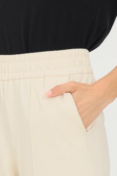 ONLY Pantaloni donna avorio only in tessuto stretch  Pantaloni   15235076WHITECAPGRAY