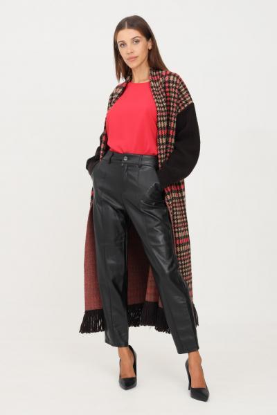 Pantaloni donna nero modello casual in similpelle  Pantaloni   15235370BLACK