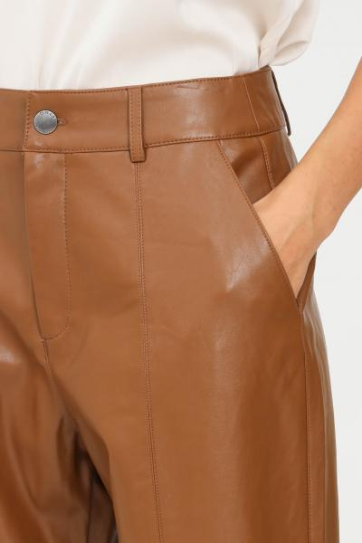 ONLY Pantaloni donna marrone only modello casual in similpelle  Pantaloni   15235370TOFFEE