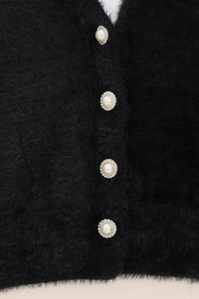ONLY Cardigan donna nero only con bottoncini gioiello sul davanti  Cardigan   15235972BLACK