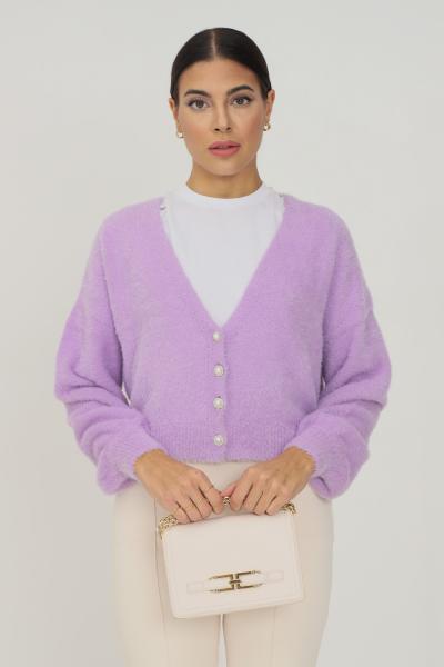 ONLY Cardigan donna lavanda only con bottoncini gioiello sul davanti  Cardigan   15235972CROCUSPETAL