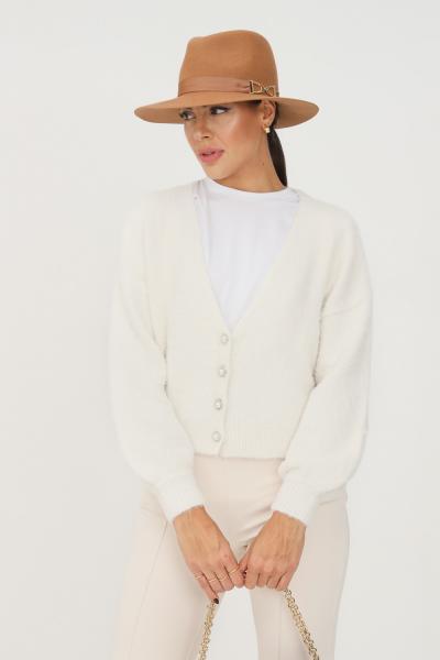 ONLY Cardigan donna panna only con bottoncini gioiello sul davanti  Cardigan   15235972EGRET