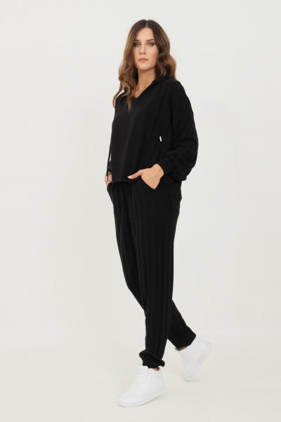 ONLY Pantaloni donna nero only modello casual con banda elastica in vita  Pantaloni   15236374BLACK