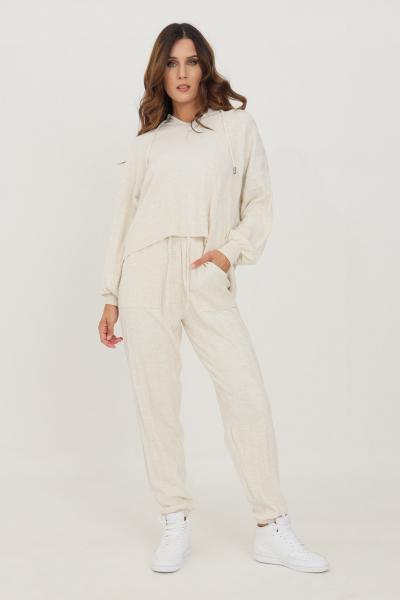 ONLY Pantaloni donna beige only modello casual con banda elastica in vita  Pantaloni   15236374PUMICESTONE