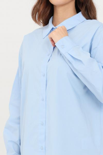 ONLY Abito donna azzurro only corto chemisier chiusura con bottoni  Abiti   15237324MEDIUMBLUEDENIM