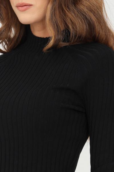 Maglioncino donna nero modello girocollo con taglio corto  T-shirt   15237835BLACK