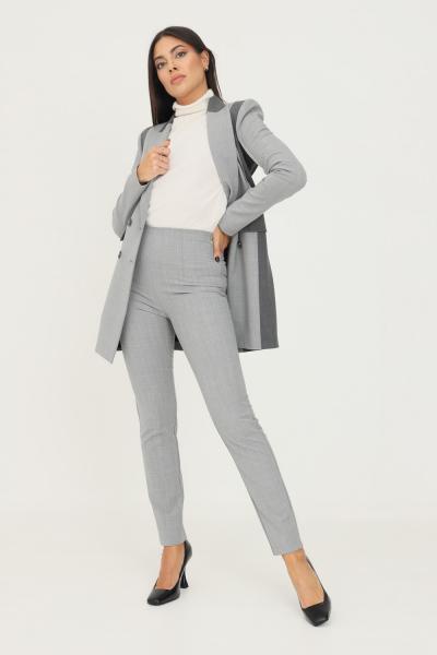 PATRIZIA PEPE Pantaloni donna grigio patrizia pepe con elastico in vita e zip laterale  Pantaloni   2P1343/A1PHS131