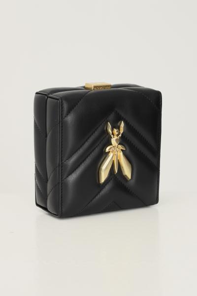 PATRIZIA PEPE Pochette donna nero patrizia pepe con maxi applicazione fly sul davanti  Borse   2VA400/A8K7K103