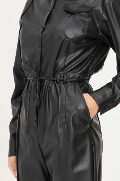 PATRIZIA PEPE Tuta essential nero donna patrizia pepe casual in ecopelle  Tute | 8L0400/A7R9K103