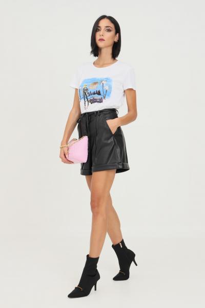 PATRIZIA PEPE Shorts nero donna patrizia pepe in ecopelle  Shorts   8L0411/A7R9K103