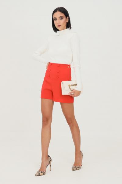 PATRIZIA PEPE Shorts rosso donna patrizia pepe a vita alta  Shorts   8P0366/A6F5R725