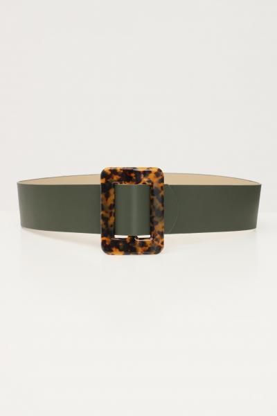 Cintura donna verde con fibbia animalier  Cinture | 17099230.M089