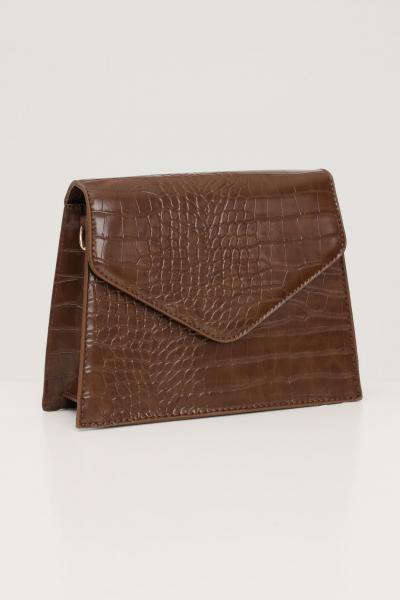 PIECES Borsa donna marrone pieces con tracolla modello in tessuto martellato  Borse | 17115989OTTER
