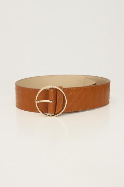 PIECES Cintura donna cuoio pieces effetto camoscio  Cinture | 17117062.COGNAC