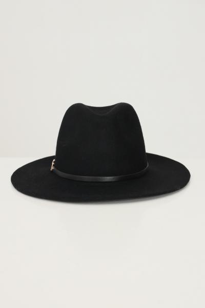 Bucket donna nero in tinta unita con applicazioni in metallo  Cappelli | 17117440BLACK