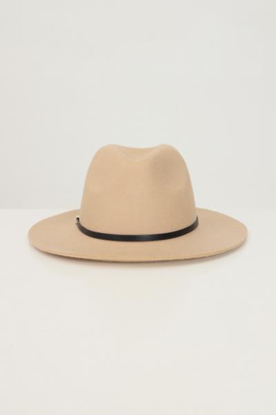 Bucket donna beige in tinta unita con applicazioni in metallo  Cappelli | 17117440TOASTED