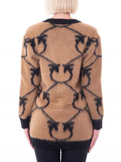PINKO Cardigan donna cammello nero pinko con bottoni  Cardigan | 1G16BY-Y761CZ3