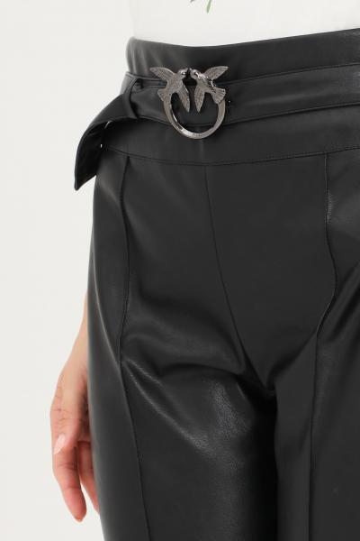 PINKO Pantaloni donna nero pinko modello casual con cintura in vita  Pantaloni | 1G16F6-7105Z99