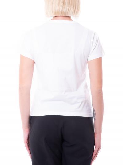 PINKO T-shirt quentin donna bianco pinko a manica corta con applicazioni  T-shirt | 1G16JB-Y4LXZZ1