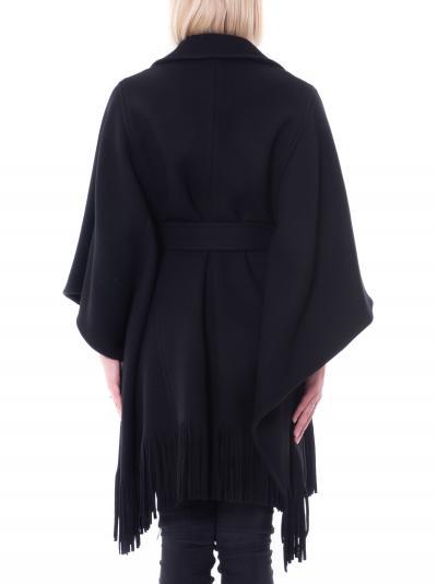 PINKO Mantella donna nero con frange by pinko  Giacche | 1G16RY-Y7DYZ99