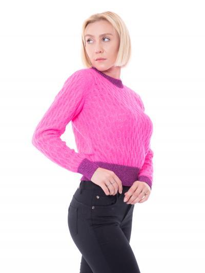 PINKO Maglioncino donna fucsia pinko modello girocollo  T-shirt | 1G16TU-Y7EQN95