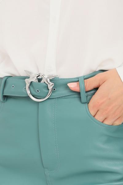 PINKO Pantaloni donna verde pinko modello casual con cintura in vita  Pantaloni | 1G16WU-7105V15