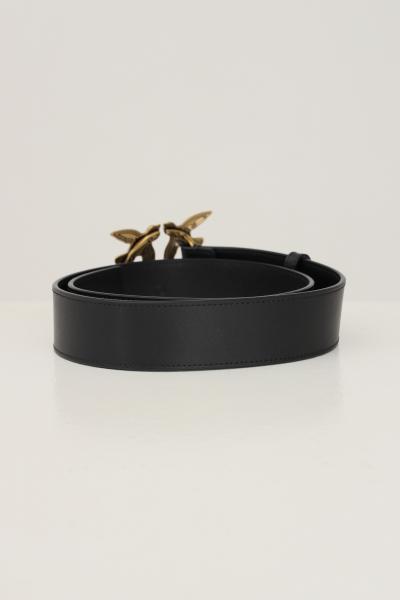 PINKO Cintura donna nero pinko con fibbia oro e applicazione perle  Cinture | 1H20X6-Y6XTZ99