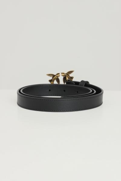 PINKO Cintura donna nero pinko con fibbia logo  Cinture | 1H20X8-Y6XTZ99