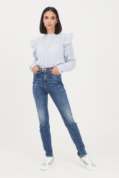Jeans da donna blue con cintura in vita  Jeans | 1J10P3-Y78QF57