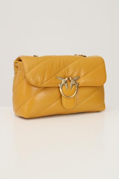 PINKO Borsa classic puff quilt donna senape pinko con tracolla  Borse | 1P22AY-Y6Y3H65