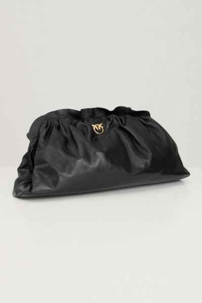 PINKO Borsa clutch nero donna pinko con tracolla in catena.  Borse   1P22EM-Y7FQZ99