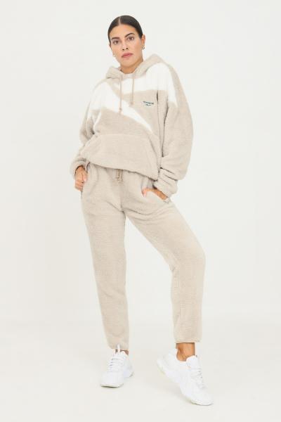 REEBOK Pantaloni da allenamento classic sherpa donna beige reebok  Pantaloni | GS9155.