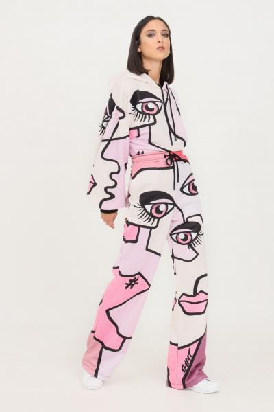 SHIT Pantaloni donna fantasia rosa shit modello casual con stampa allover  Pantaloni   SHT007PA9