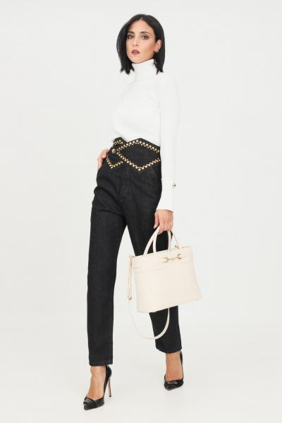 SIMONA CORSELLINI Jeans donna nero simona corsellini con applicazione borchie piatte  Jeans | A21CPPAD06-O2-C02700010003