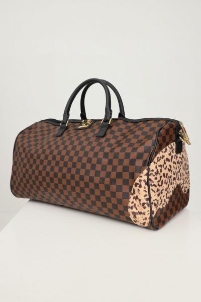 SPRAYGROUND Borsone da palestra sprayground ai3 leopard checkered duffle unisex marrone  Borse | 910D3955NSZ.