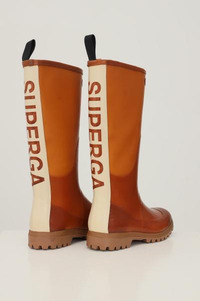 SUPERGA Stivali donna arancio superga con maxi banda logo sul retro  Stivali | S00G700947
