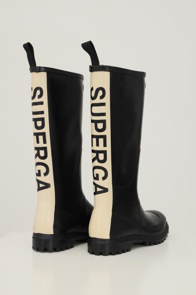 SUPERGA Stivali donna nero superga con maxi banda logo sul retro  Stivali | S00G700999
