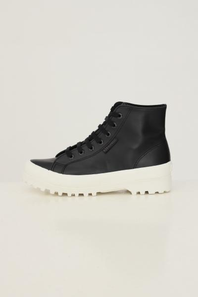 SUPERGA Sneakers alte alpina nappa donna nero superga  Sneakers | S41188WA7T