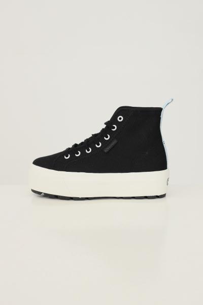 SUPERGA Sneakers hi top tank donna nero superga modello stivaletto  Sneakers | S5113EW999