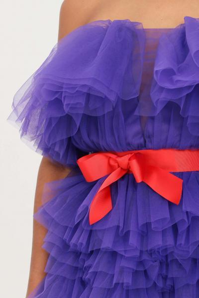 TEEN IDOL Abito donna viola teen idol in tulle con cintura  Abiti | 029777070
